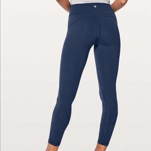 """Lululemon In Movement 7/8 Tight *Everlux 25"""" Mineral Blue Crops Pants Leggings"""